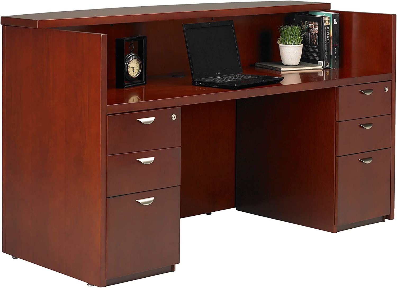 Mayline Mira Desk Veneer Cherry Charlotte Mall Weekly update Medium