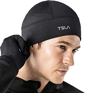 TSLA Unisex (Pack of 1, 2) Skull Cap Thermal Fleece Line Active Beanie Helmet Liner