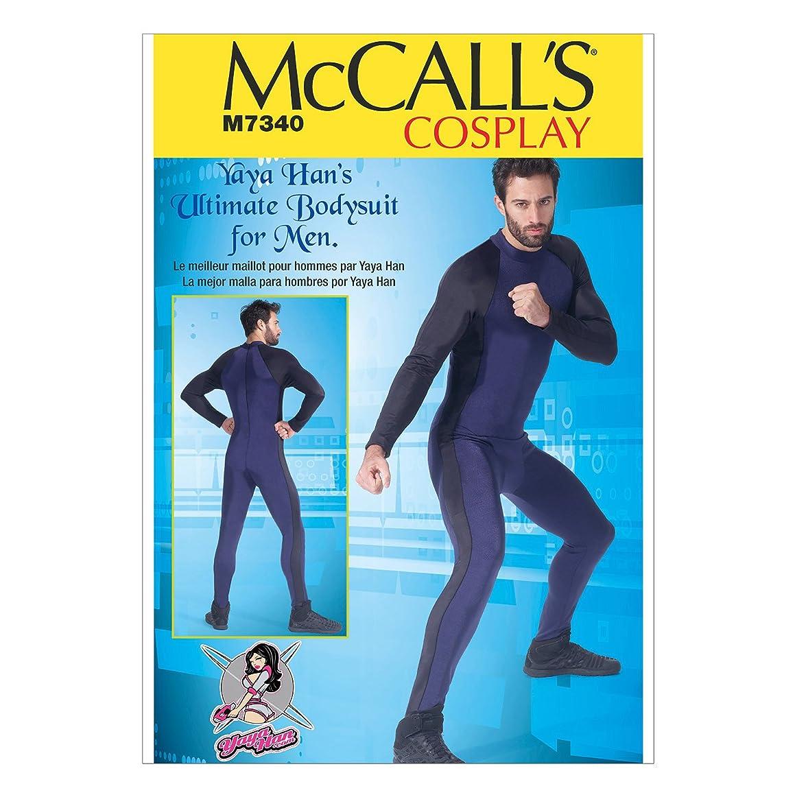 McCall's Patterns M7340 Men's Zippered Bodysuit by Yaya Han, MQQ (46-48-50-52)