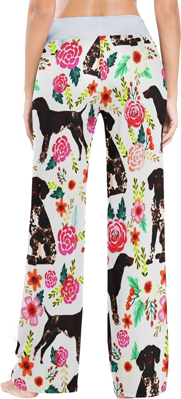 UWSG Women's Pajama Pants Drawstring Long Wide Leg Lounge Sleep Trousers Sleep Pants