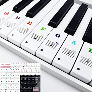 Piano Keyboard Stickers Removable for Beginners 37/49/54/61/