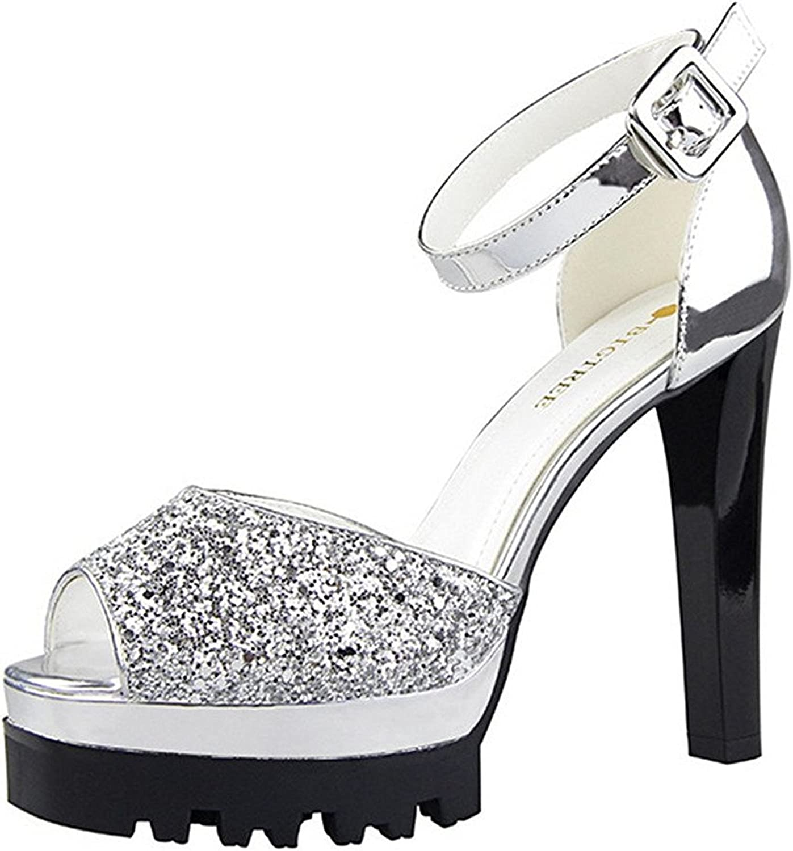 Colnsky British Style Waterproof Platform Pumps shoes Sexy Nightclub Women's Thick High Heel shoes