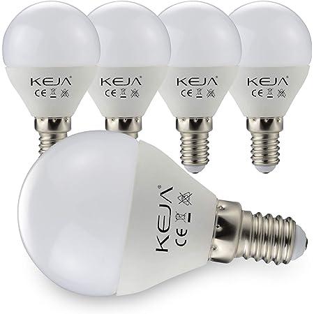 Lot de 5 ampoules LED E14 7 W, 600 lm par ampoule, équivalent à une ampoule à incandescence de 60 W, 2700 K, blanc chaud, angle d'éclairage de 270 °