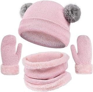 heekpek Cappello Bimbo Berretti Invernali Ragazza Crochet Cappello A Maglia Bambini Caldo Cappello Doppio Bambini Berretto...