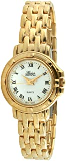 Swiss Edition Women's Watch with 23k Gold Plated Dress Bracelet and Swiss Made Analog Quartz Movement