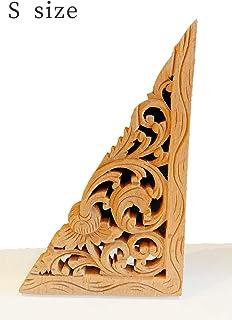 アジアン雑貨 ウッドカービング 木製レリーフ トライアングル型 バリ風インテリア (Ssize)