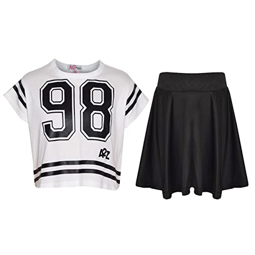 3b7e888fa A2Z 4 Kids® Girls Top Kids 98 Print Stylish Crop Top & Fashion Skater Skirt