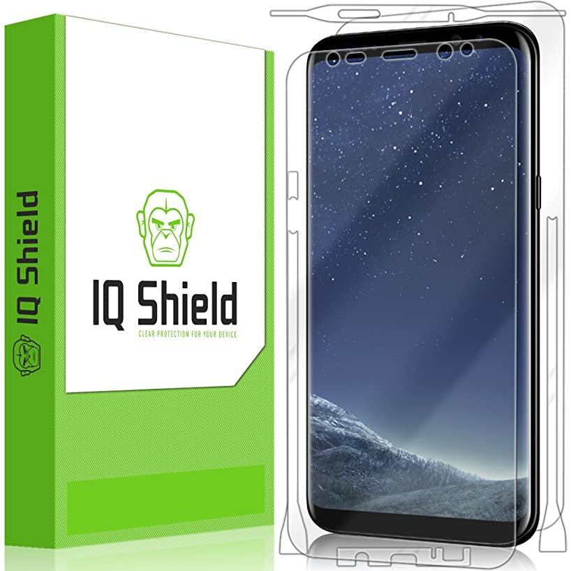 IQ Shield LiQuidSkin Full Body Skin + Full Coverage Screen Protector for Samsung Galaxy S8 Plus (S8+) HD Clear Anti-Bubble Film
