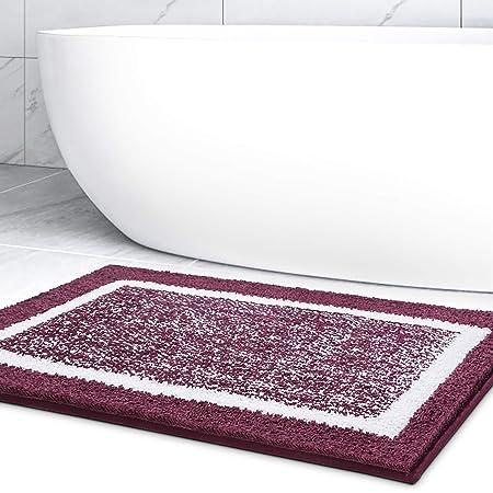 Color&Geometry Alfombra de Baño Antideslizante, Alfombrilla de Baño, Microfibra Suave, Lavable en la Lavadora, Súper Absorbente, 40 x 60 cm (Púrpura)