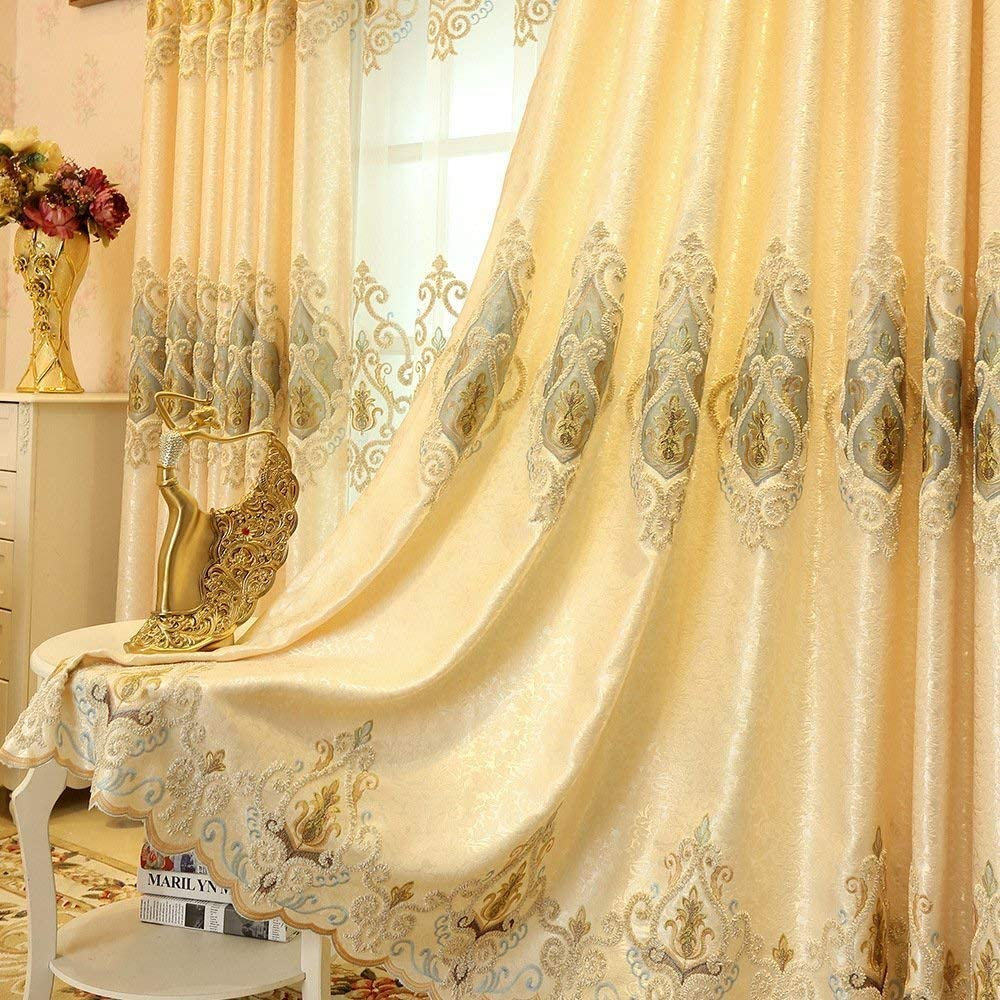 European Style 2021 autumn and winter new 55% OFF Living Room Curtains C Darkening Luxury Gold
