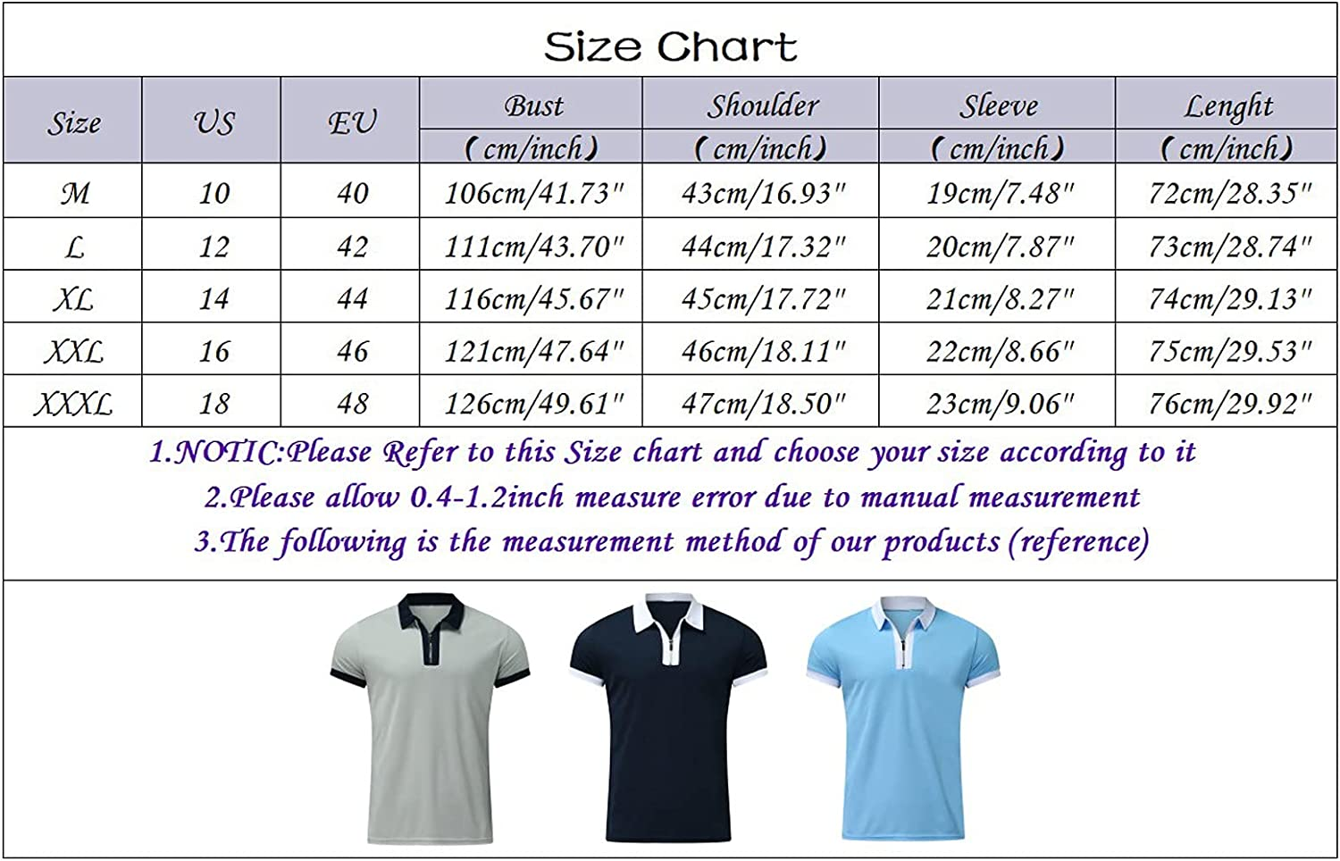 Mens Polo Shirt Casual Short Sleeve Zip Tee Tops Classic Turn-Down Collar Henley Blouse Slim Comfy Cotton Linen Top