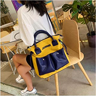 YXWL Big Bag Fairy Canvas Bag Female Shoulder Slung Japanese Student Ins2019 New Large Capacity Handbag (Color : Yellow)
