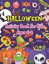 Halloween Activity Book For Kids Ages 4-8: Original & Unique Coloring Pages of Pumpkin, Gravestone, Ghost House, Cat, Bat,...