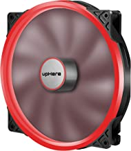 upHere P20 Series P200RD-Hydraulic Bearing 200mm Silent Red LED Computer Case Fan,P200RD