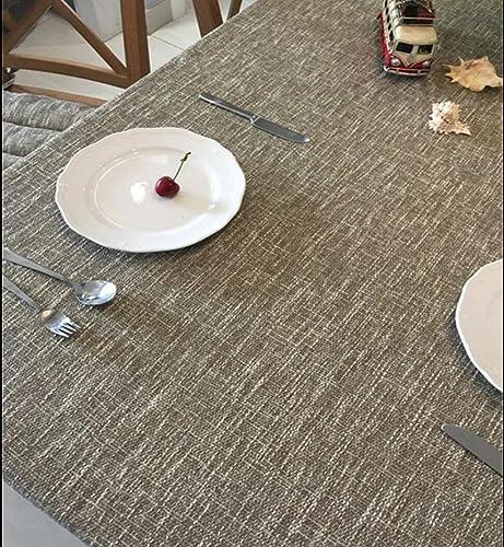 Reine Farbe Farbe Dicke leinen Baumwolle leinen runde tischdecke Tisch couchtisch Abdeckung einfarbig, 2