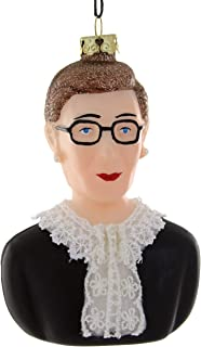 CODY FOSTER & CO. Ruth Bader Ginsburg Blown Glass Christmas Tree Ornament