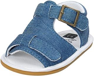 WINJIN Chaussures pour Bébé Garçon Sandales Enfants Garçon Chaussure Eté Semelle en Caoutchouc Chaussons Premiers Pas Chau...