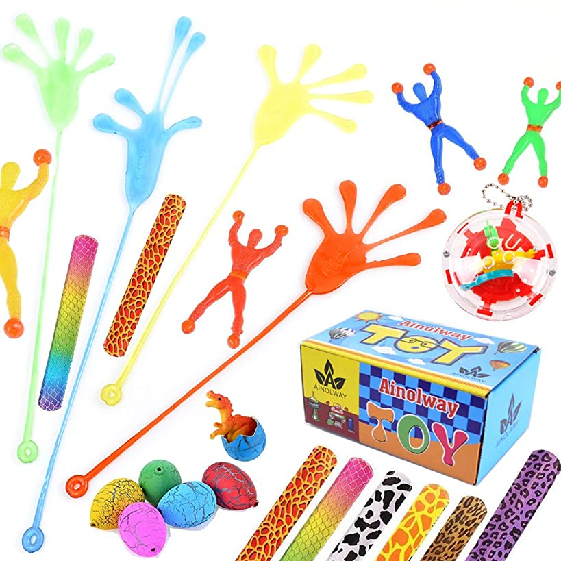 Party Favor Toys Set for Kids, Vinyl Stretchy Sticky Toy Assortment Novelty Fidget Toy for Birthday and Prizes, Goodie Bag Fillers
