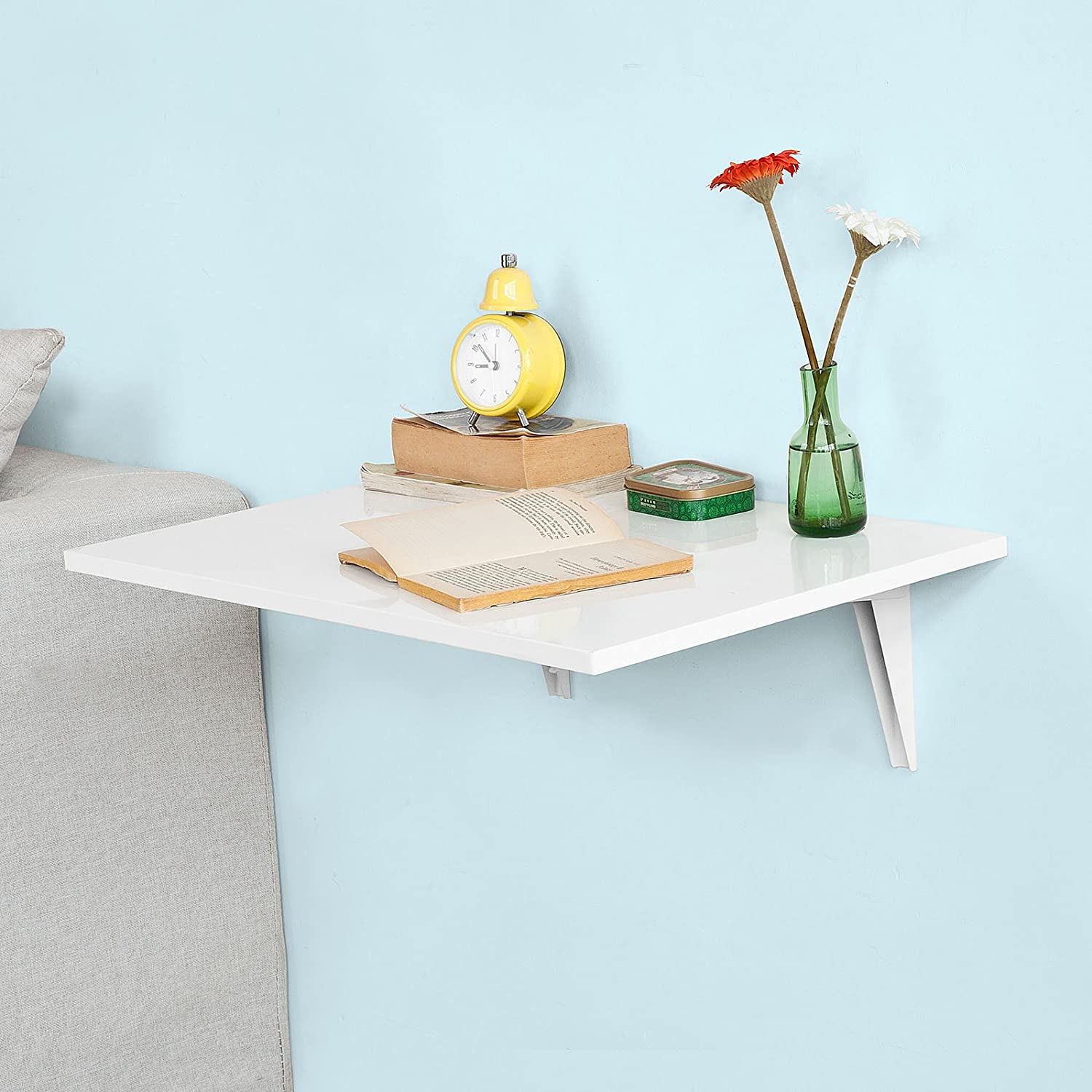 Haotian Wall-Mounted Drop-Leaf Table Kitchen Dining Folding T Award-winning free shipping store