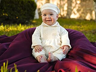 Baby Boy Christening Gown, Spanish Style outfit (ropones para bautizo). Baptism Outfit B004