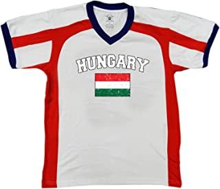 Flag of Hungary Men's Soccer Style Sport T-Shirt, Amdesco