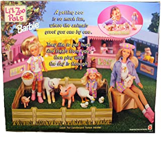 Barbie Li`l Zoo Pals Gift Set w Barbie, Kelly & Stacie Dolls (1998)