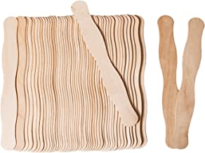 Craft Sticks - Wavy Fan Handles 8 In Jumbo Popsicle Sticks for DIY, Crafts, Wedding Fan Sticks