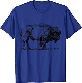 Buffalo T-Shirt American Bison Classic Print Tee