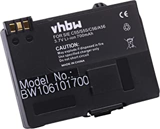 vhbw Accu geschikt voor Siemens A55, A60, A65, A70, A75, C55, C60, CL60, M55, S55, vervanging voor EBA-510, V30145-K1310-X...