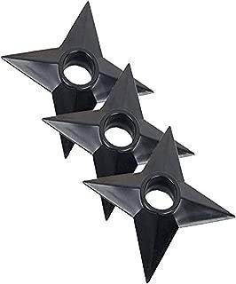 AMZONDEALER1217 🌟Naruto Shuriken Throwing Star Naruto Ninja Star (3 Pieces) Ninja Weapons Naruto Shuriken Throwing Plastic Toy