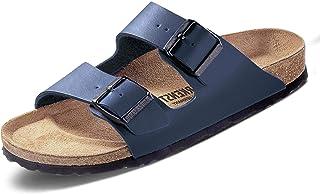 Birkenstock Mens Arizona Navy Regular Fit Twin Strap Sandals
