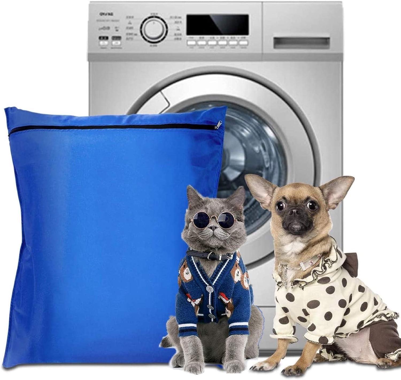 Bolsa de Lavandería para Mascotas,Gran Bolsa de Lavandería con Cremallera,Evita Que el Pelo de Las Mascotas Bloquee la Lavadora,Ideal para Perros,Gatos,Mantas, Juguetes