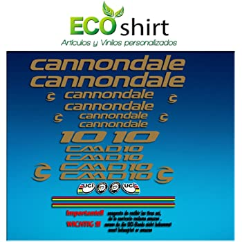 Ecoshirt OJ-JVWE-5GJK Stickers Frame Cannondale CADD 9 Am27 Stickers Aufkleber Decals Adesivi Bike MTB Cycle Black