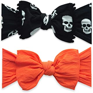 Baby Bling Bows 2 Pack - Baby to Little Girls Trimmed and Classic Knot Headbands