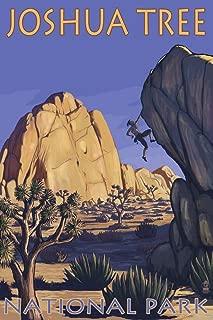 Joshua Tree National Park, California - Boulder Climber (9x12 Art Print, Wall Decor Travel Poster)