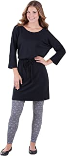 Women's Cotton Jersey Sleepshirt and Leggings Pajama Set