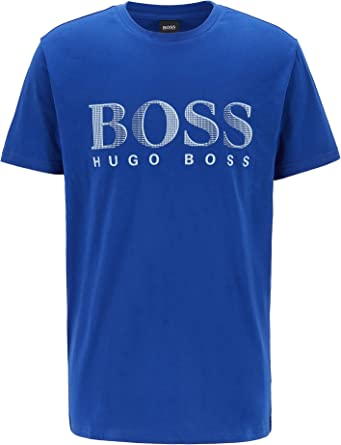 BOSS Mens T-Shirt RN Cotton Relaxed-fit T-Shirt with UPF 50+ Finishing