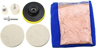 SODIAL 8Pcs Car Windshield Scratch Repair Polishing Kit