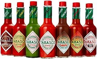 TABASCO Saucen Caddy, 7150 ml, 7 Glasflaschen Chili-Sauce, 100% natürlich