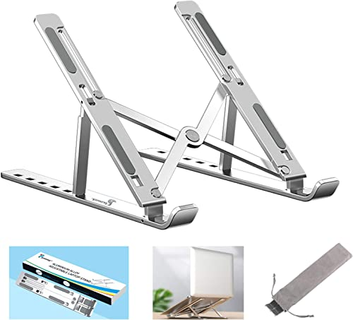 Proffisy Laptop Stand Adjustable Computer Stand Ergonomic Portable Tablet Stand Foldable Compatible with MacBook Dell...