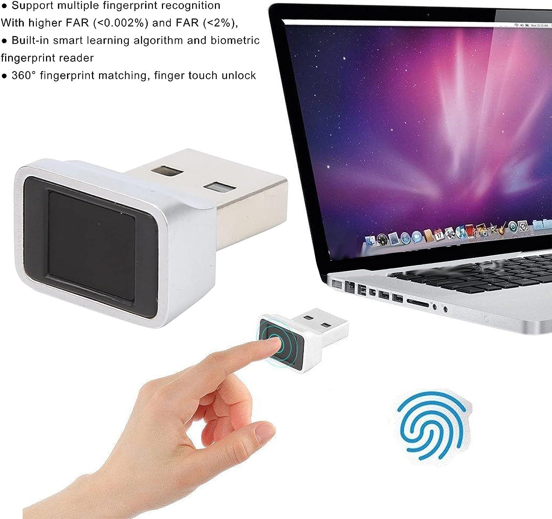 USB Fingerprint Reader USB Type-C Multiple Fingerprint Recognition Reader Compact Support Multiple Fingers Key Reader Smart ID Encryption for Computer Laptop