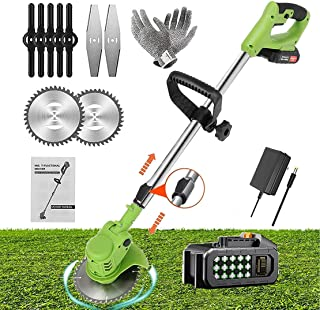 Electric Lawn Mower Cordless Lawn Trimmers Lawn Mowers Grass Trimmer Kit Brush Cutter Garden Tools with 21V Batteries and ...