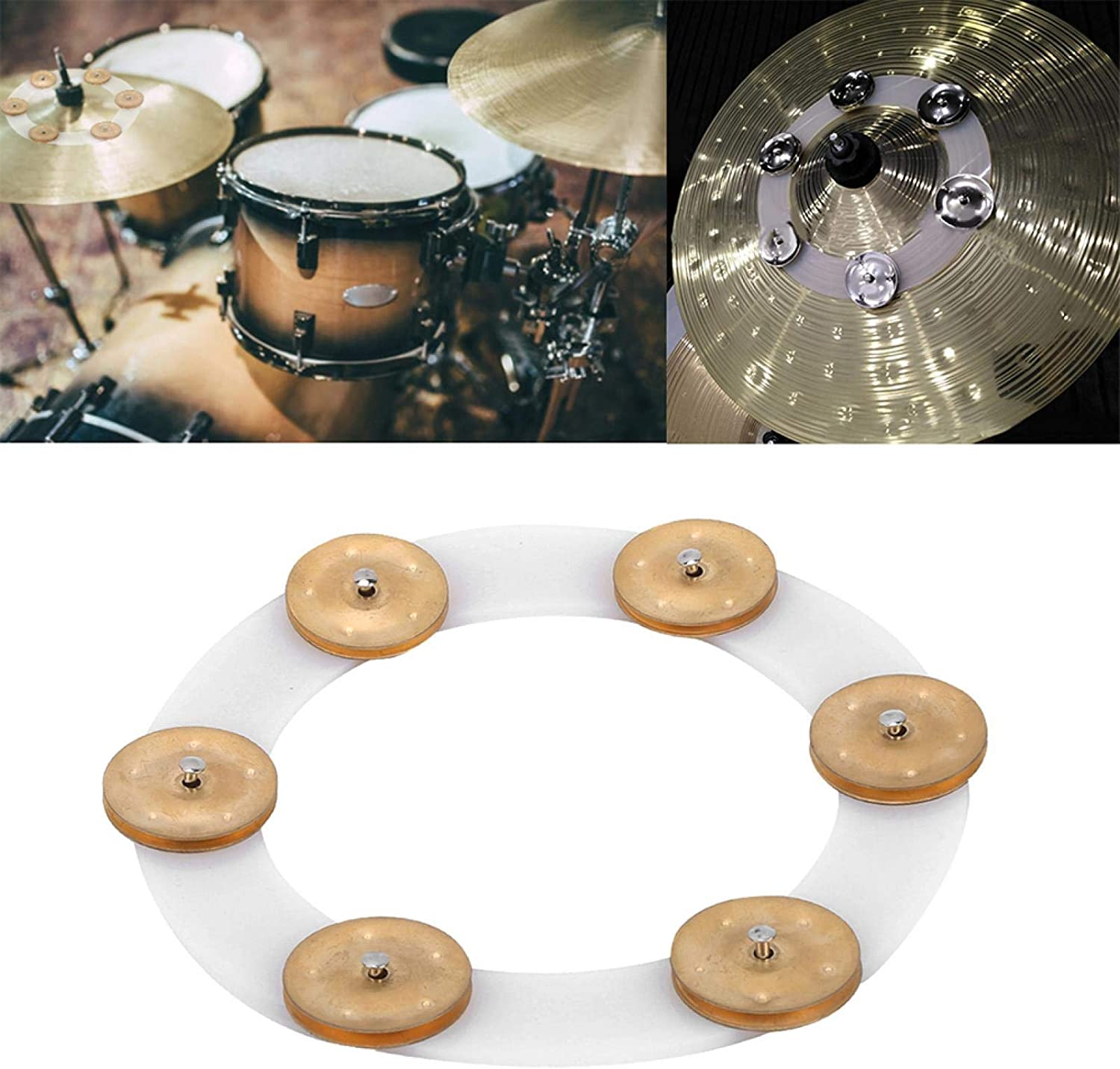 Drum Cymbals Hi Hat 100% quality warranty! Tambourine Sturdy for Limited price sale