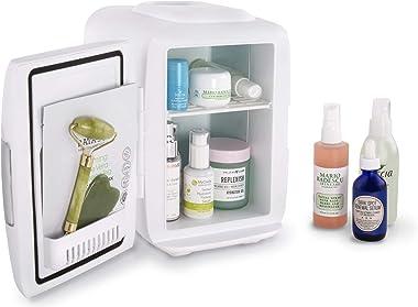 Cooluli Skincare Mini Fridge for Bedroom - Car, Office Desk & Dorm Room - Portable 4L/6 Can Electric Plug In Cooler &