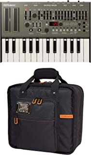 Roland SH-01A Sound Module Boutique Synthesizer with K-25M Keyboard and CB-BRB3 Black series Boutique pouch