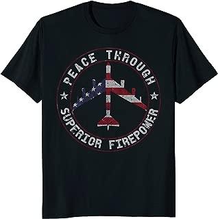 Peace Through Superior Firepower B-52 Bomber Vintage T-Shirt
