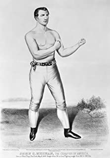American Boxer 1860 Nboxer John Camel Heenan The Benicia Boy (1833-1873) Lithograph By Currier & Ives 1860 Poster Print by...