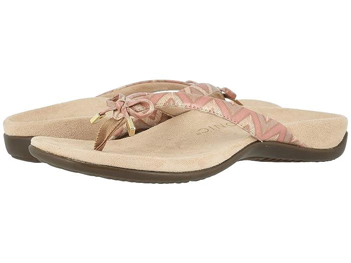 VIONIC  Bella II (Dusty Pink Chevron) Womens Sandals