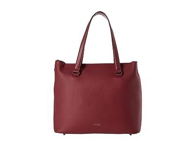 Lipault Paris Plume Elegance Leather Weekend Bag (Ruby) Bags