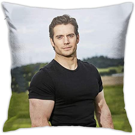 Shuakara Henry Cavill Pillow Case Fashion Square Pillowcase Decorative Throw Cushion Cover For Xmas Birthday Gift 18in18in Home Kitchen